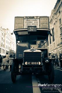 Old London Bus (B&W)