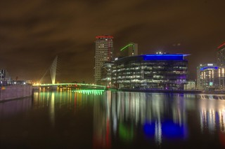 Mediacity at Night (HDR)