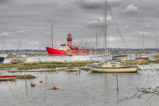 Lightship In Harbor HDR