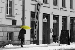 Yellow Umbrella in The...