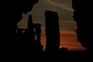 Corfe Castle, Sunset