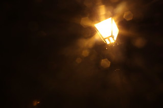 Streetlamp at Night -...