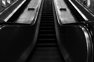 Escalators Black and...