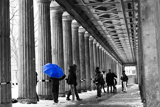 Blue Umbrella on Museum...