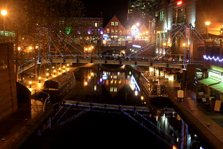 Brindley place at Night