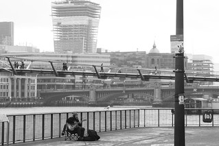 Busker on the South Bank