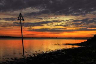 Sunset nr Burnham-on-Crouch...