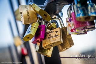 Padlocks on Pont d'Arcole